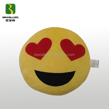 Happy Emoji Plush Cushion For Procurement Section