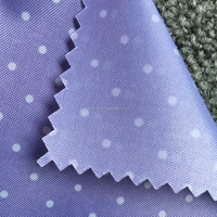 lining fabric for handbag pringting 210D polyester fabric with PA coating