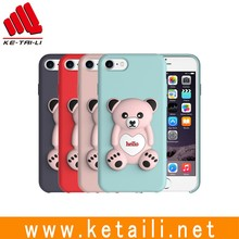 New Fashion Cute Bear Design Silicone PC Soft Touch Case For iphone 7