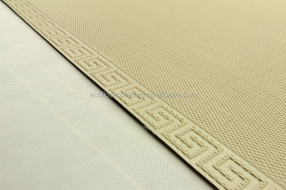 Woven vinyl floor covering in carpet latex backed area for Woven vinyl outdoor rugs
