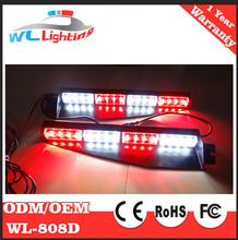 Red White 32 LED Emergency Light / Split Visor Led Warning Strobe Police Fire Tow Truck