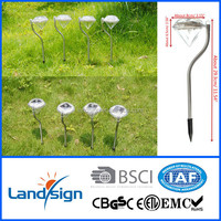 New arrival solar garden light solar outside lamp XLTD-771 mini stainless steel colour garden solar light