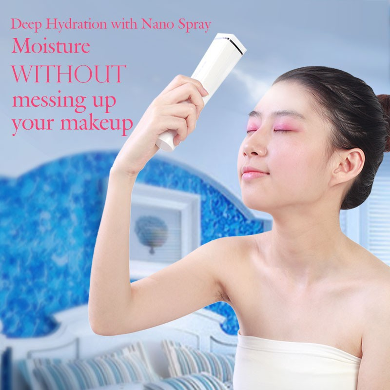 new brand portable water spray cooling ultrasonic skin toner wrinkle removal nano mist spray