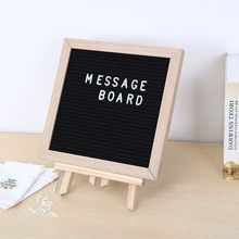 TaoYe wholesale changeable 10x10 inches felt board wood message black letter board