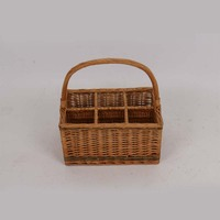 cheap wicker storage basket gift basket with handle for wine