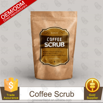 Popular Product Deep Skin Exfoliator Coffee Scrub 500g Paper Bag Packaging