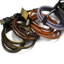 For iPhone 5 5c 6 6s for iphone 6 pu leather braided usb Charge cable Colorful Data line USB Cable for ios 9.3.2