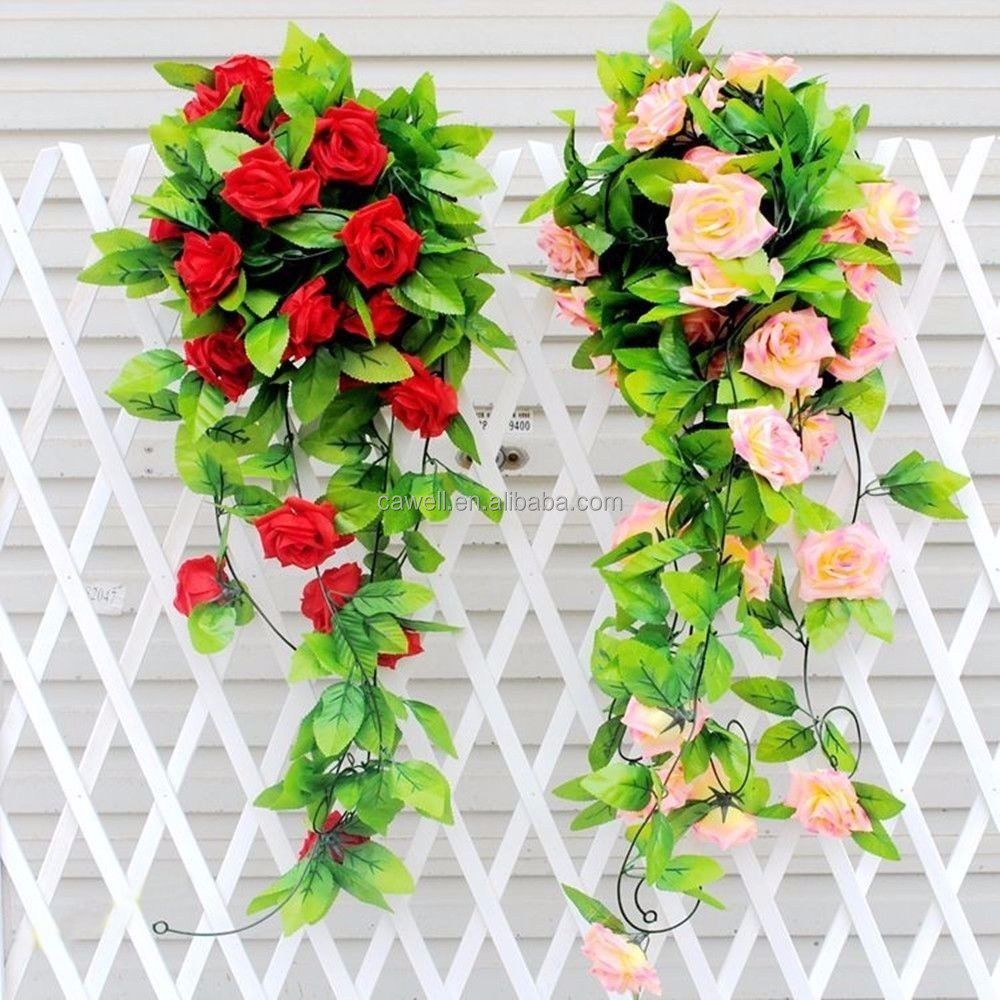 8ft Silk Rose Vine 2015 Cheap Artificial Flowers In Yiwu