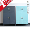 Upper Big And Lower Small Space Storage Space Double Deck 4 Door Locker Cabinet