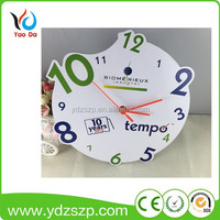 Hot sale promotional cheap MDF cute smart baby kids handmade wall clocks
