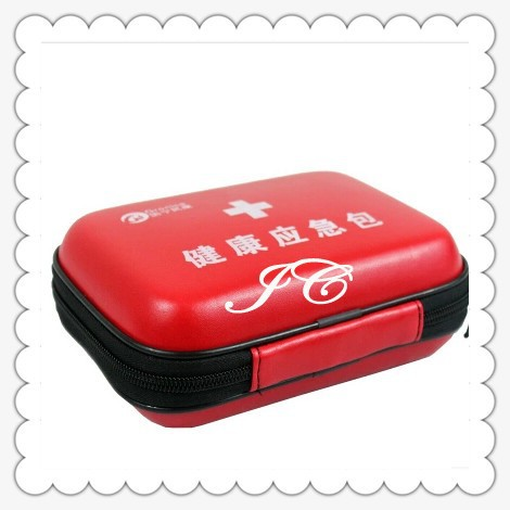 customized emergency auto safety tool kit with red bag