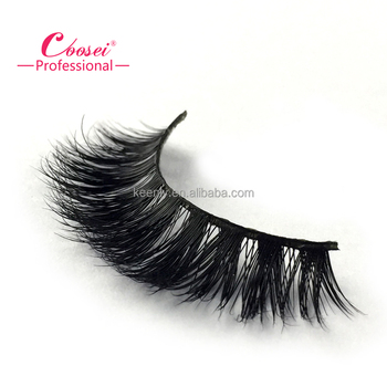 Mink hair lashes extension strip with custom logo