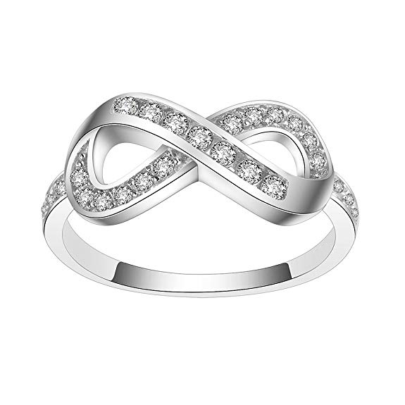 OB Jewelry-925 Sterling Silver Statement Forever Infinity Ring For Amazon Resale