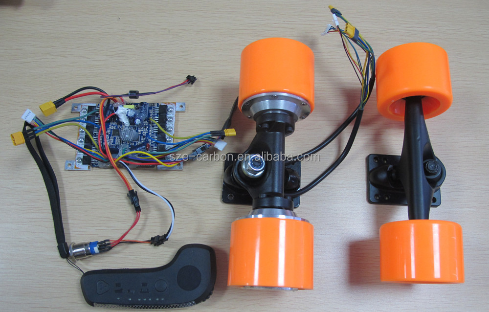 Selling hot 73mm dual hub-motors and FOC ESC with remote controller for Electric Skateboard