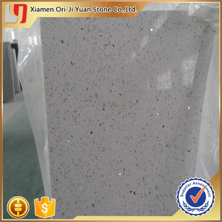 Top quality promotional blue white sparkle artificial quartz