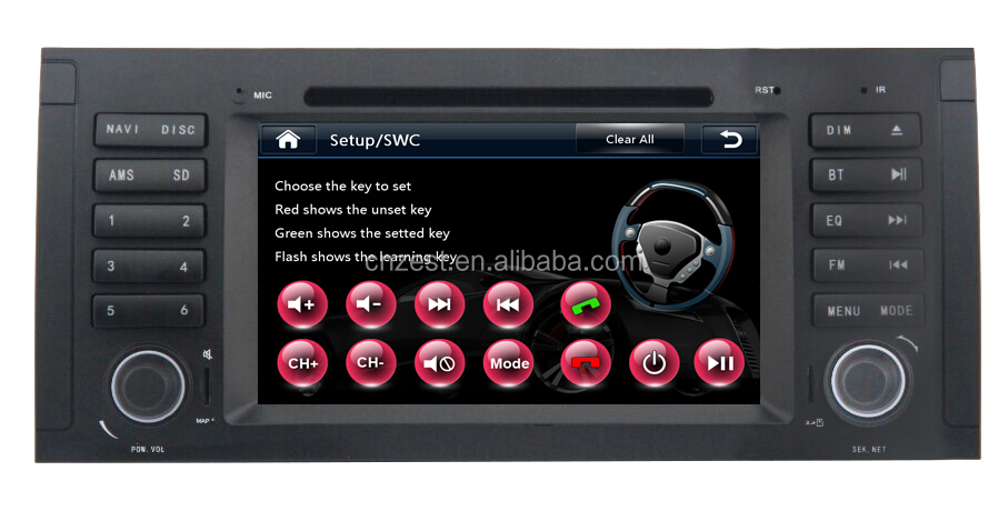 NEW WIN CE 6.0 system car video player for BMW e39 with OBD2 DVD GPS 3G digital TV function