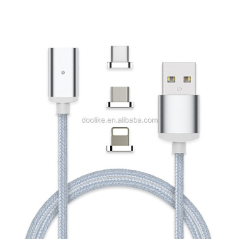 Hot sale 3 in 1 cable usb fast charger micro magnetic usb cable for mobile phone