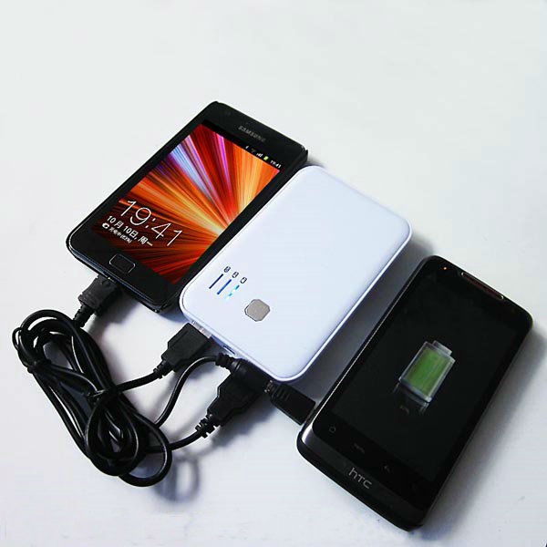 2013 new products power bank 5000 mah for iPhone/iPad/HTC/Samsung/Smart Phone