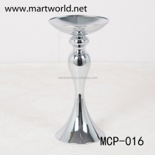 2017 New design silver metal flower stand centerpiece for wedding party decoration(MCP-016)