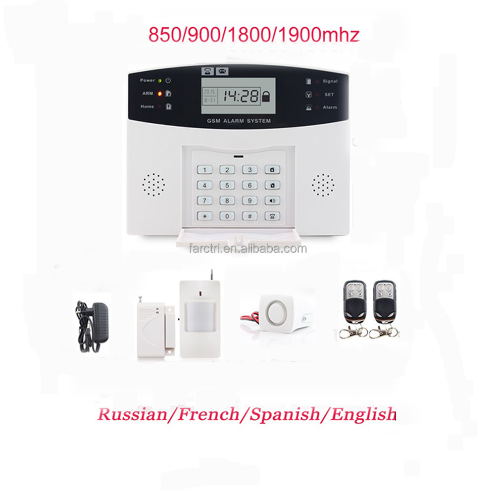 1 Years warranty security of <strong>gsm</strong> of alarm of system instruction in the russian
