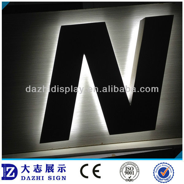big size backboard drill hole LED signage