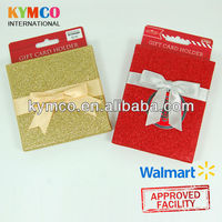 Walmart Glitter Gift Paper Box With Ribbon and Hanger