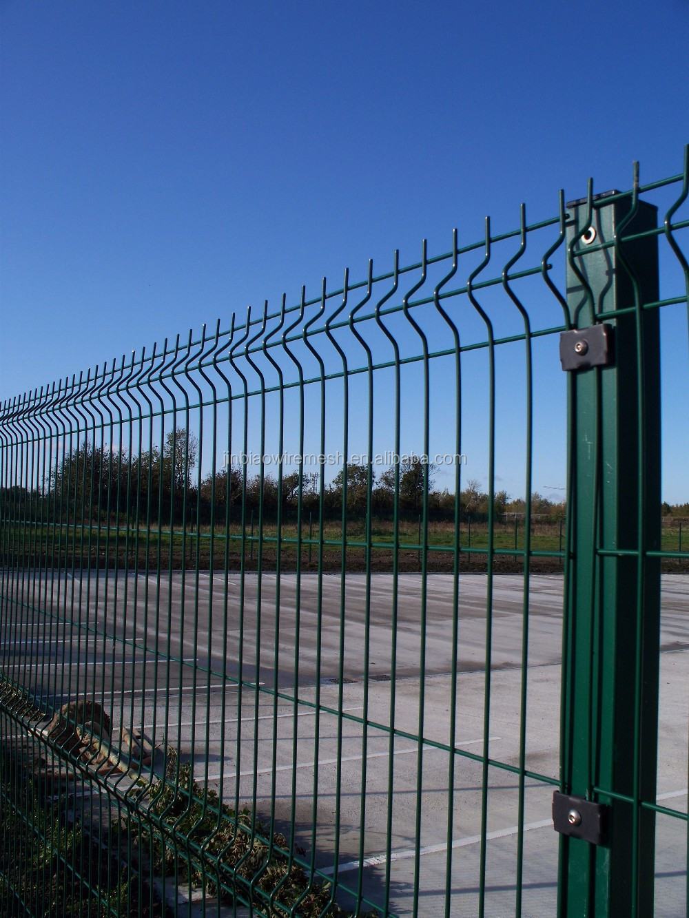 Pvc coated curved wire mesh fence panel security panel for 3d fence