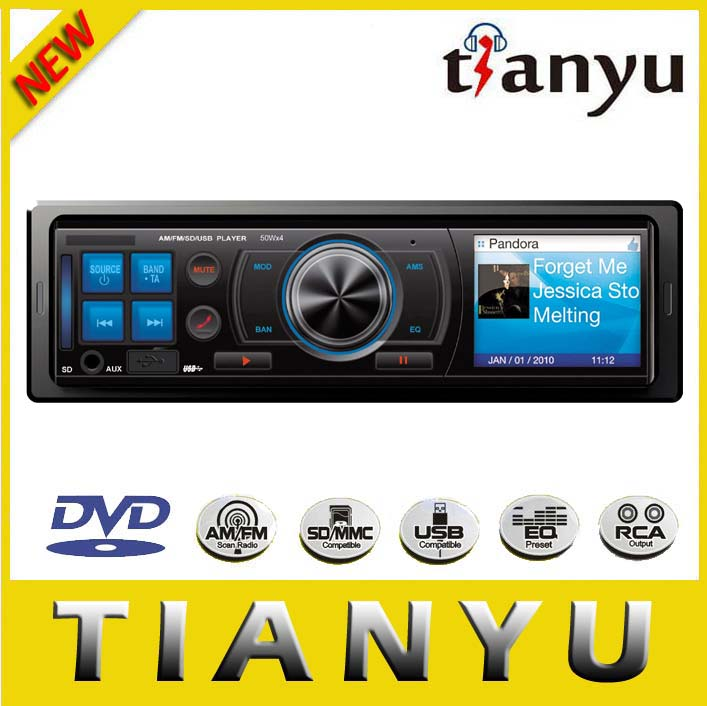 1din 3 inch car multimedia DVD/MP5 player receiver with USB, SD and AUX-IN detachable panel