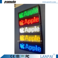 (Direct Manufacturing)electronic message board,flashing name tag,led boarding,led display software