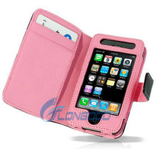 High Quality Leather Card Holder Flip Case Cover Pouch for iPhone 4G/3GS