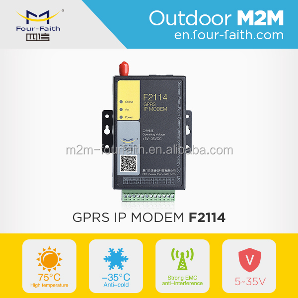 F2114 gprs modem for industial wireless dongle with sim card with rs232/rs485 i