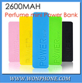 2600mAh perfume mini Power Bank universal USB External Backup Battery for Phone 4s 5 5c power for I9500 s3 note2