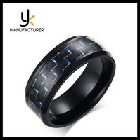 Wholesale Men's 8mm Width Black Carbon Fibre Rings In Stock