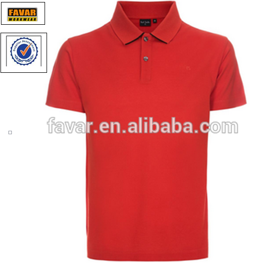 Two button placket comfortable turn-down collar full cotton man's short sleeve polo T-shirt