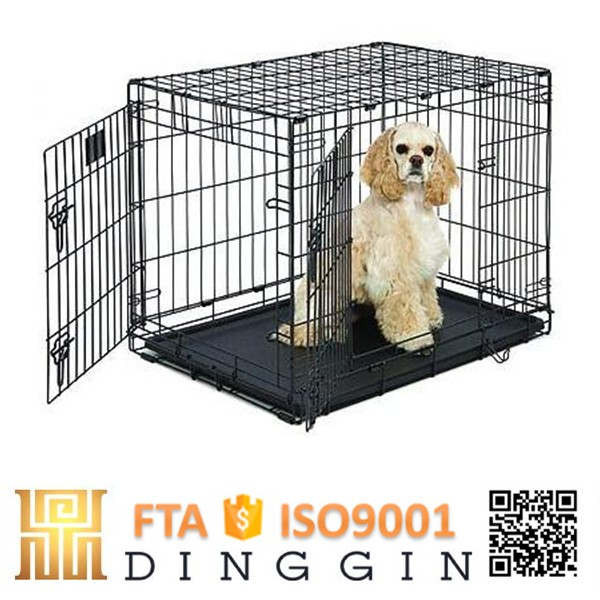 Labrador puppies steel dog cage
