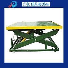 China cheap in-ground hydraulic stationary scissor lift for cargo lifting