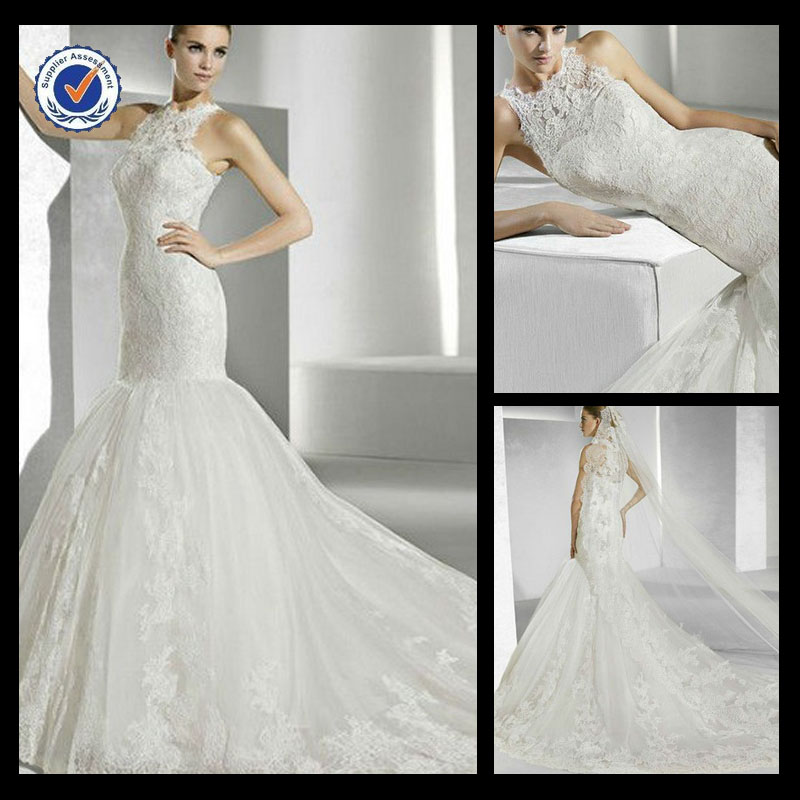 Sh0134 Daisy wedding dresses mermaid cut kleinfeld wedding dresses