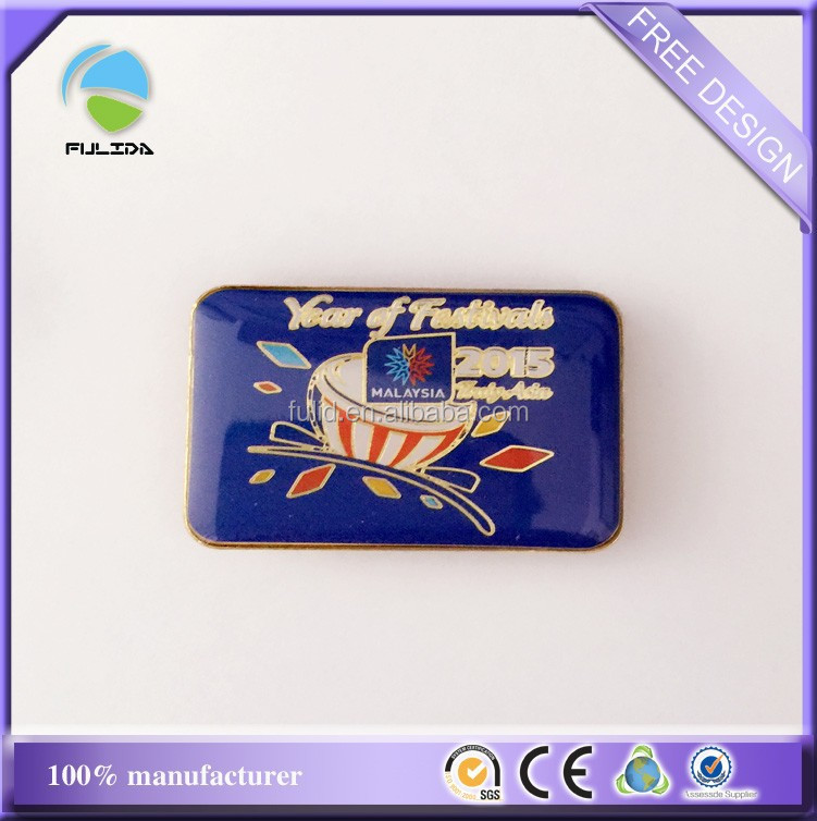 metal epoxy enamel pin, zinc alloy soft enamel pin with epoxy
