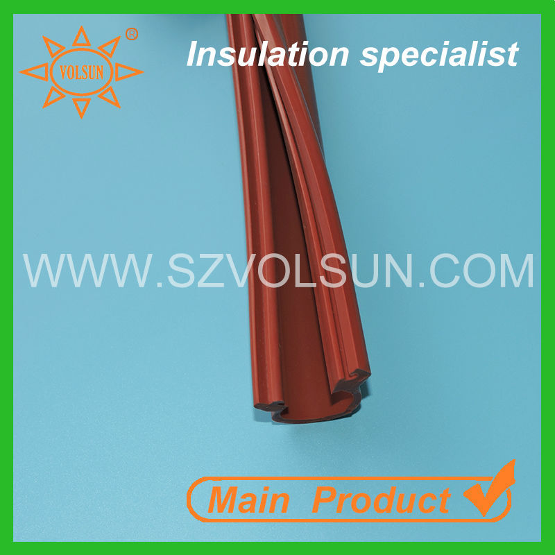 Red silicone rubber overhead electrical line cover