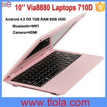 The Most Popular OEM 10 inch Mini Laptop with Bluetooth Camera 710D