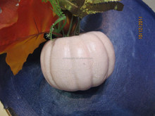 Giant size white foam craft pumpkins