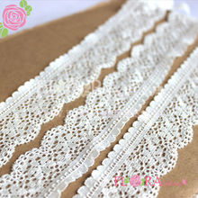 Best quality custom elegant crochet trimming lace white for decoration
