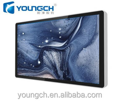 55 inch advertising lcd android wall mounted ultra thin high brightness flat panel 16 9 advertising monitor