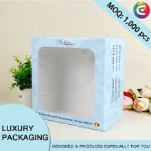 Custom product big window gift paper display carton box