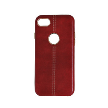 NEW Electroplate leather Back Cover case for iPhone 8/Luxury business style leather hard phone case for iPhone 7
