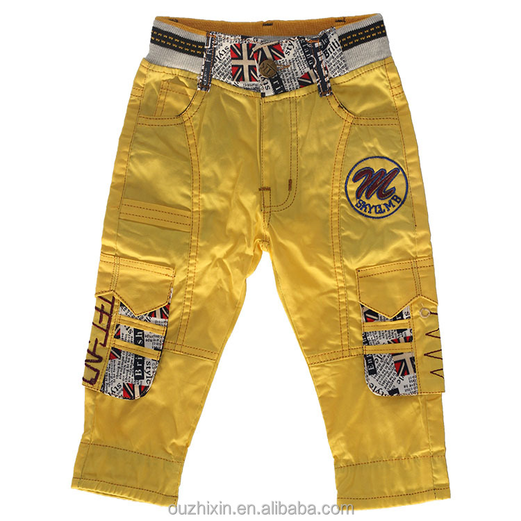 Children leggings fashion outdoor casual cargo sweat pants for boys