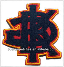New Custom Chenille Embroidered Patches Chenille Letters in Hot Sale