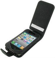 Leather Case for Apple iPhone 4 4S Monaco Flip Type