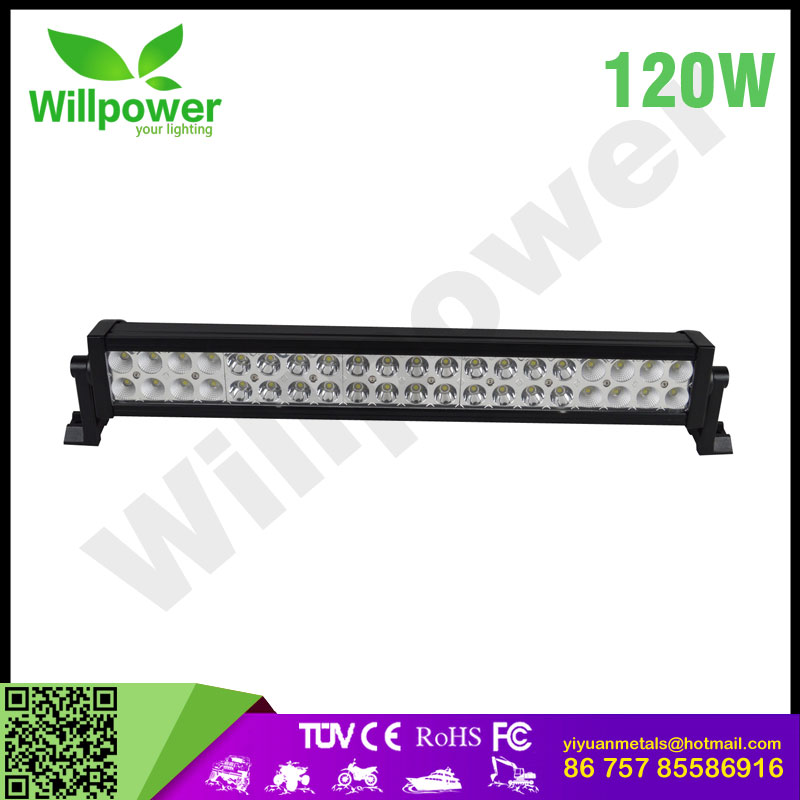 High power 4x4 truck tractor forklift 12v waterproof 120w led light bar offroad
