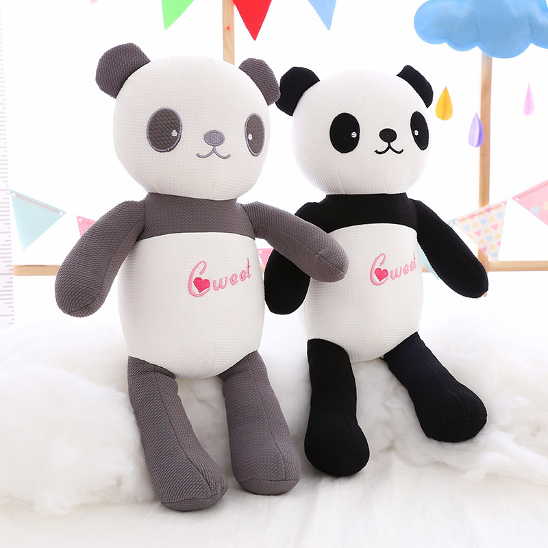 Wholesale soft Lovely panda bear doll plush animal stuffed panda toy